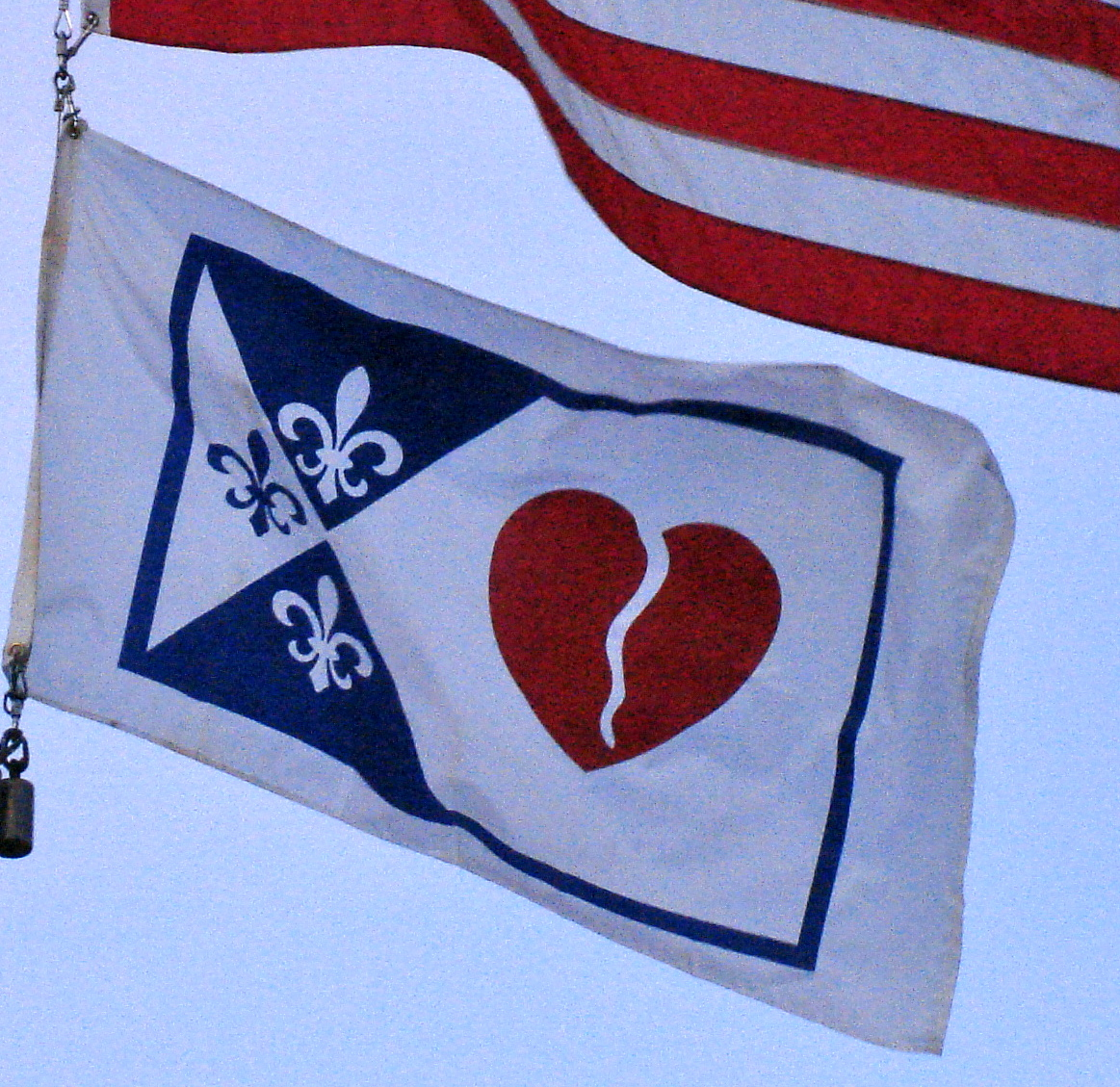 broken heart flag in creve coeur - Version 2